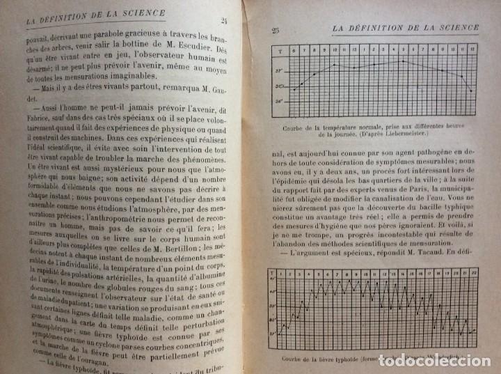 Libros antiguos: La definition de la science : entretiens philosophiques. Félix Le Dantec, 1908. 1.ª edición. - Foto 7 - 276435773