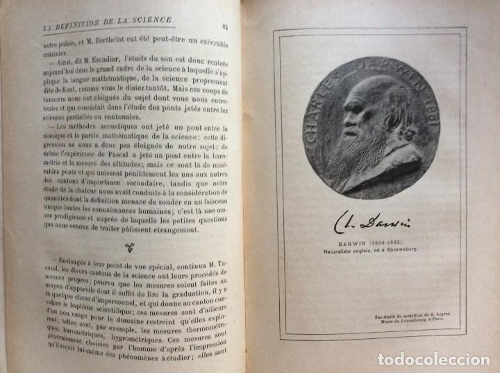 Libros antiguos: La definition de la science : entretiens philosophiques. Félix Le Dantec, 1908. 1.ª edición. - Foto 8 - 276435773