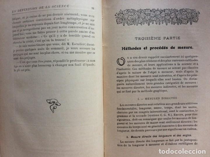 Libros antiguos: La definition de la science : entretiens philosophiques. Félix Le Dantec, 1908. 1.ª edición. - Foto 9 - 276435773