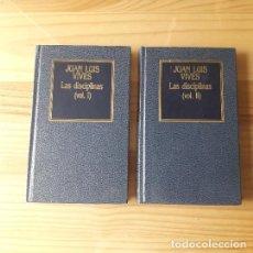 Libros antiguos: LAS DISCIPLINAS I Y II (2 TOMOS) - JUAN LUIS VIVES. Lote 277493068