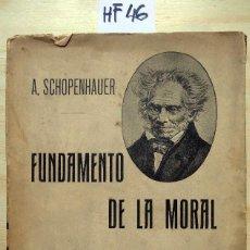 Libros antiguos: FUNDAMENTO DE LA MORAL. Lote 277522493