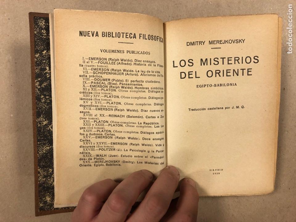 Libros antiguos: LOS MISTERIOS DEL ORIENTE (EGIPTO - BABILONIA). DMITRY METEJKOVSKY. ESPASA CALPE 1929. - Foto 4 - 281918508