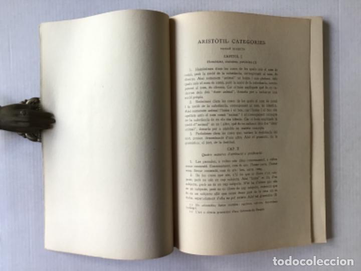 Libros antiguos: ARISTÒTIL. CATEGORIES I PERIHERMENEIAS. - Foto 2 - 286776978