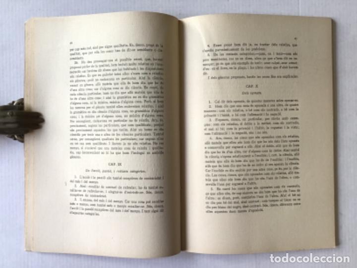 Libros antiguos: ARISTÒTIL. CATEGORIES I PERIHERMENEIAS. - Foto 3 - 286776978
