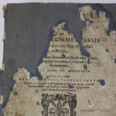 Libros antiguos: ARISTOTELIS DE ANIMA. LIBRI TRES. SOPHIANO-PASSERII. VENETIIS 1572. Lote 287471583