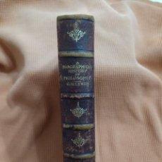 Libros antiguos: UNA HISTORIA BIOGRÁFICA DE LA FILOSOFÍA. GH LEWES.. Lote 287567828