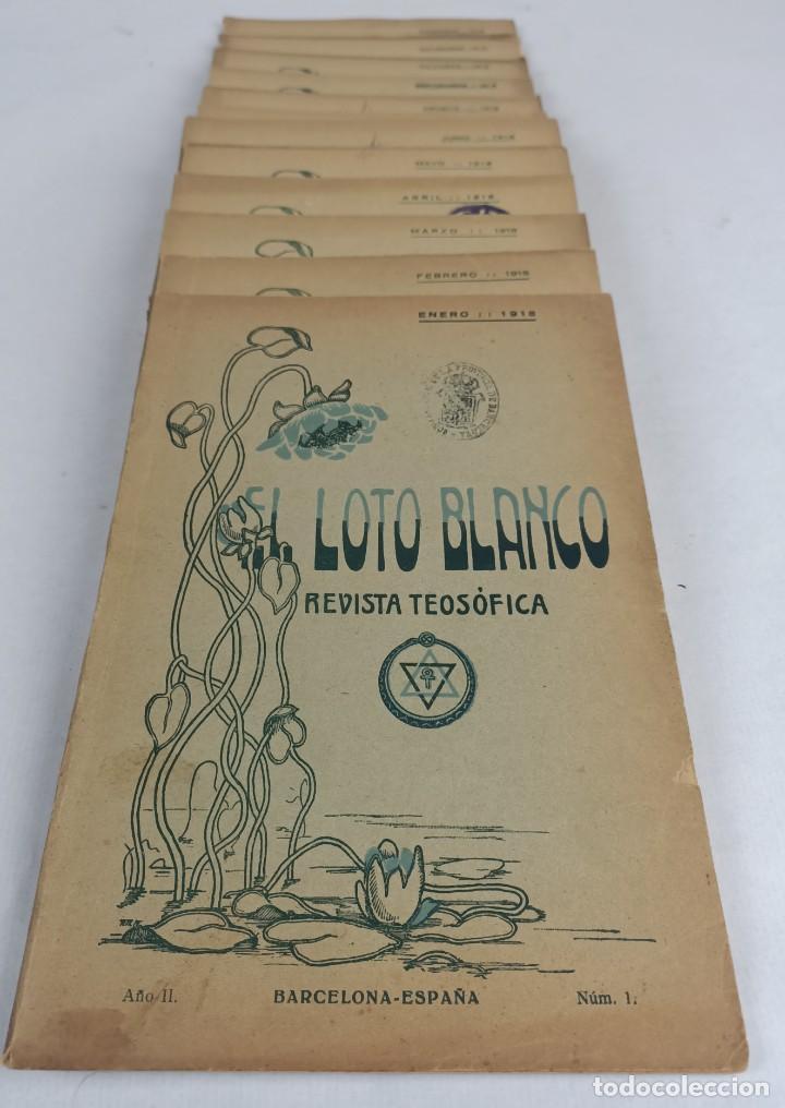 Libros antiguos: EL LOTO BLANCO - REVISTA TEOSOFICA - 1918 AÑO COMPLETO - 12 NÚMEROS - CLIMENT , Federico - TEOSOFIA - Foto 2 - 288063963