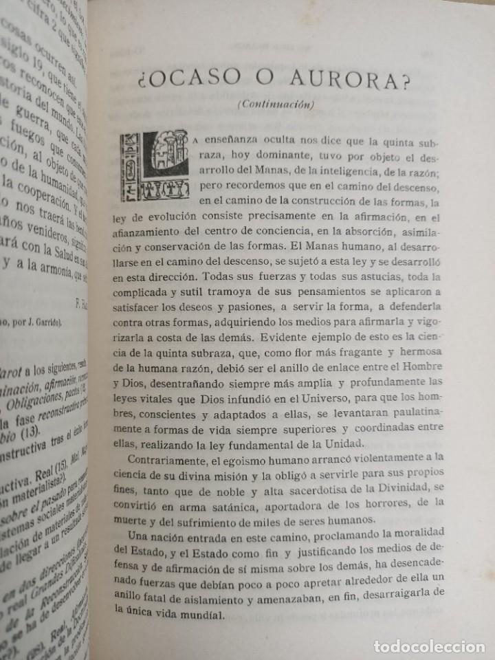Libros antiguos: EL LOTO BLANCO - REVISTA TEOSOFICA - 1918 AÑO COMPLETO - 12 NÚMEROS - CLIMENT , Federico - TEOSOFIA - Foto 6 - 288063963