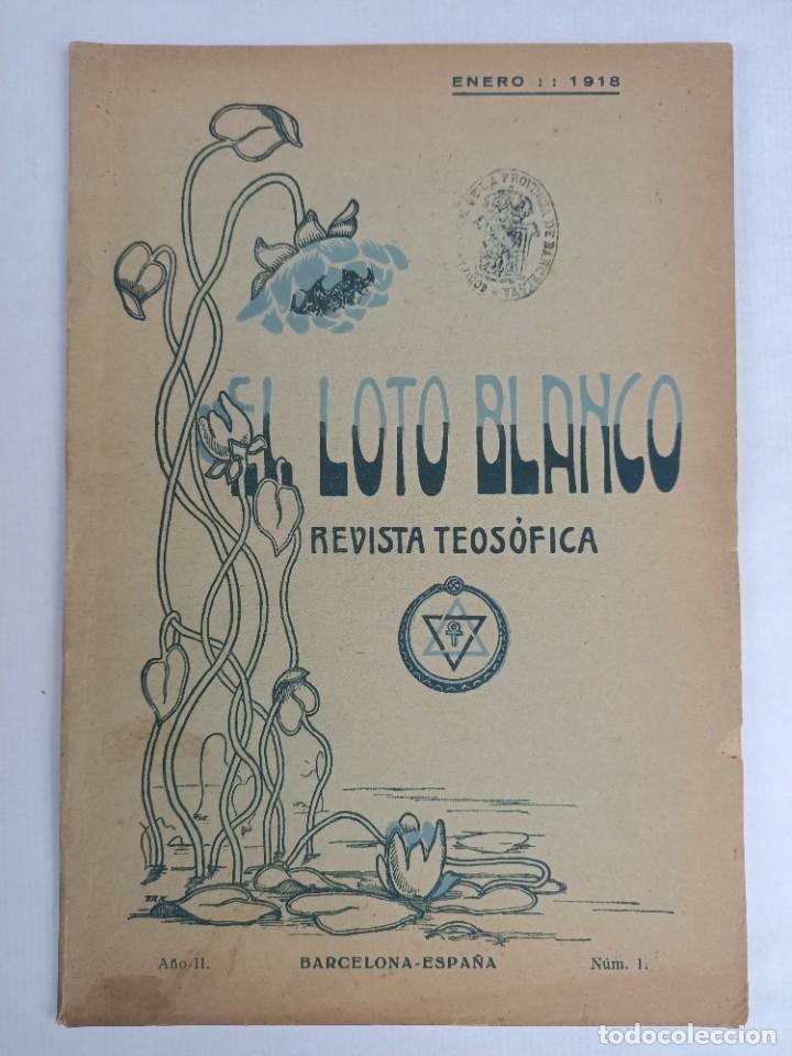 Libros antiguos: EL LOTO BLANCO - REVISTA TEOSOFICA - 1918 AÑO COMPLETO - 12 NÚMEROS - CLIMENT , Federico - TEOSOFIA - Foto 7 - 288063963