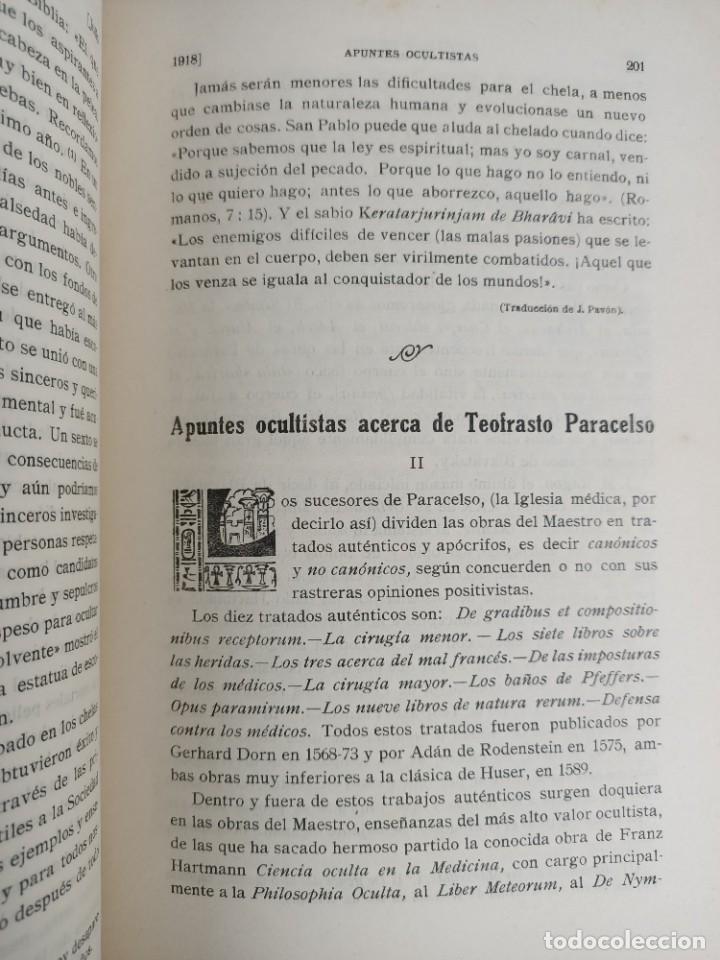 Libros antiguos: EL LOTO BLANCO - REVISTA TEOSOFICA - 1918 AÑO COMPLETO - 12 NÚMEROS - CLIMENT , Federico - TEOSOFIA - Foto 10 - 288063963