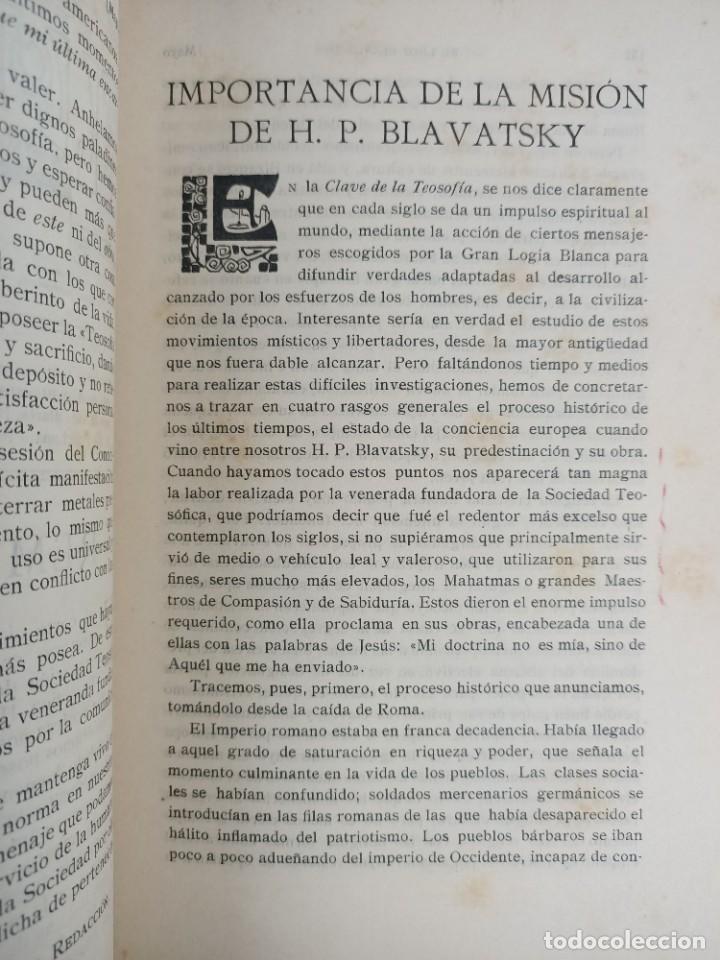 Libros antiguos: EL LOTO BLANCO - REVISTA TEOSOFICA - 1918 AÑO COMPLETO - 12 NÚMEROS - CLIMENT , Federico - TEOSOFIA - Foto 11 - 288063963