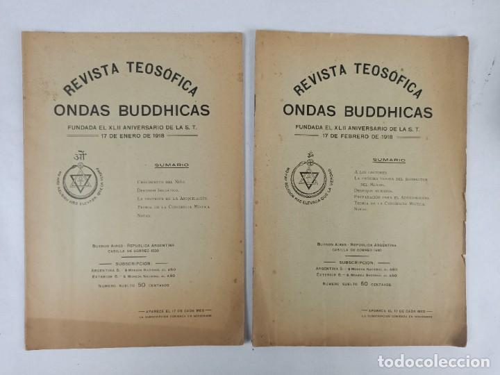 REVISTA TEOSOFICA ONDAS BUDDHICAS - 1918 - ARGENTINA - 2 NÚMEROS - TEOSOFÍA (Libros Antiguos, Raros y Curiosos - Pensamiento - Filosofía)