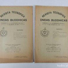 Libros antiguos: REVISTA TEOSOFICA ONDAS BUDDHICAS - 1918 - ARGENTINA - 2 NÚMEROS - TEOSOFÍA. Lote 288067838