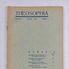 Libros antiguos: THEOSOPHIA - REVISTA DE SINTESIS ESPIRITUAL / VOLUMEN V / JUNIO 1936 / NÚMERO 6 - TEOSOFIA. Lote 288072343