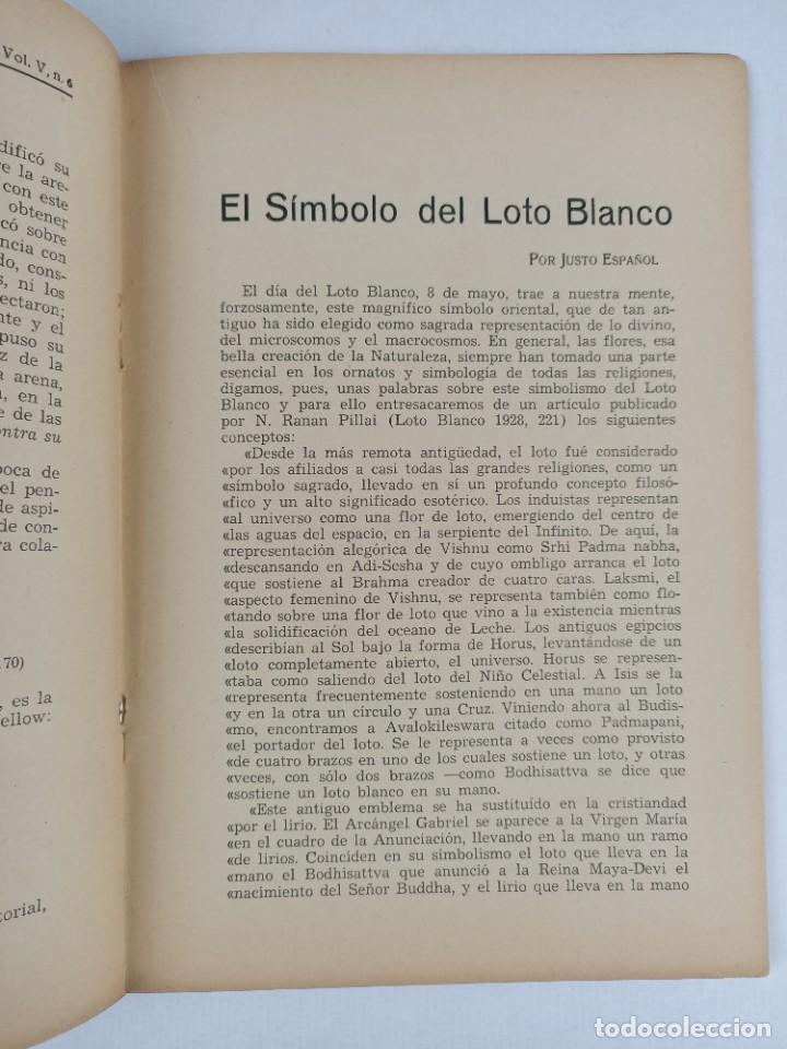 Libros antiguos: THEOSOPHIA - REVISTA DE SINTESIS ESPIRITUAL / VOLUMEN V / JUNIO 1936 / NÚMERO 6 - TEOSOFIA - Foto 4 - 288072343