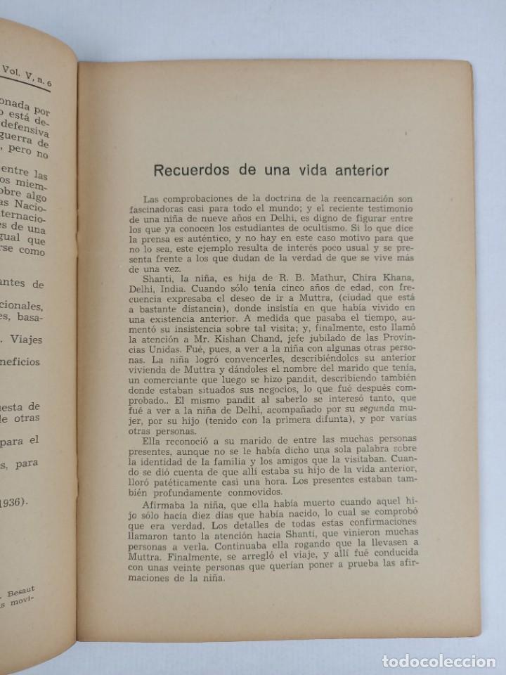 Libros antiguos: THEOSOPHIA - REVISTA DE SINTESIS ESPIRITUAL / VOLUMEN V / JUNIO 1936 / NÚMERO 6 - TEOSOFIA - Foto 5 - 288072343