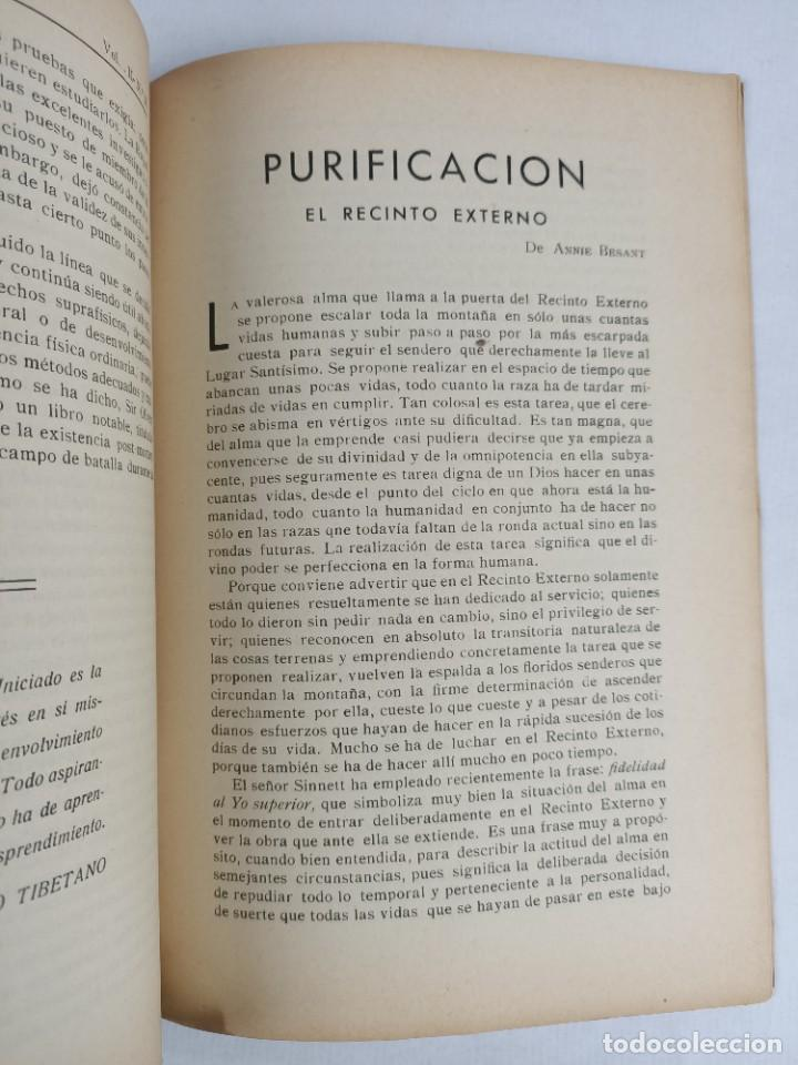 Libros antiguos: TEOSOFIA -/ VOLUMEN II / NOVIEMBRE 1933 / NUMERO 11 / HOMENAJE A LA DRA. ANNIE BESANT - Foto 4 - 288073288