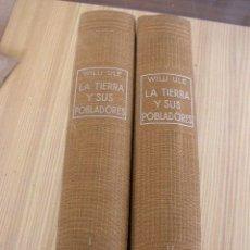 Libros antiguos: LA TIERRA Y SUS POBLADORES, OBRA DE POPULARIZACIÓN GEOGRÁFICA.DE: WILLI ULE-1929- 2 TOMOS.COL. ALGO. Lote 25138310