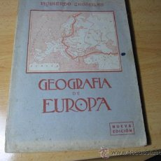 GEOGRAFIA DE EUROPA - IZQUIERDO GROSELLES - GRANADA 1950 LIBRO ESCOLAR