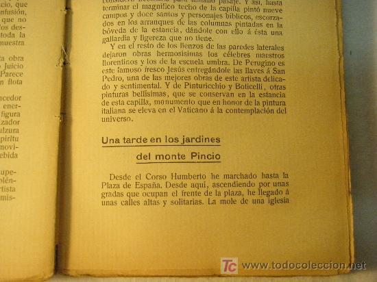 Libros antiguos: ITALIA IMPRESIONES DE VIAJE POR UN PINTOR ADELARDO CORVASI 1910 - Foto 2 - 26999718