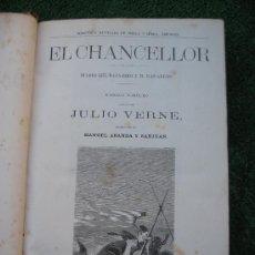 Libros antiguos: 1870.10 OBRAS DE JULIO VERNE. GRABADOS AL METAL. VIAJES EXTRAODINARIOS OBRAS COMPLETAS. Lote 31326819