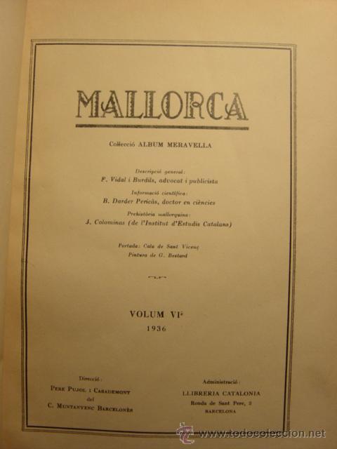 Libros antiguos: ALBUM MERAVELLA VOLUMEN VI AÑO 1936, MALLORCA (CROMOS) - Foto 4 - 26847295