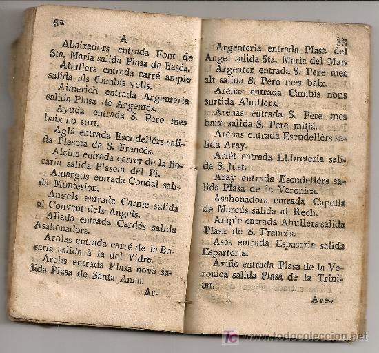 Libros antiguos: Diversion de ciudadanos...[ guia de Barcelona ] BCN : Teresa Nadal, 1789. 13,5x7,5cm. 74 p. - Foto 5 - 26894756