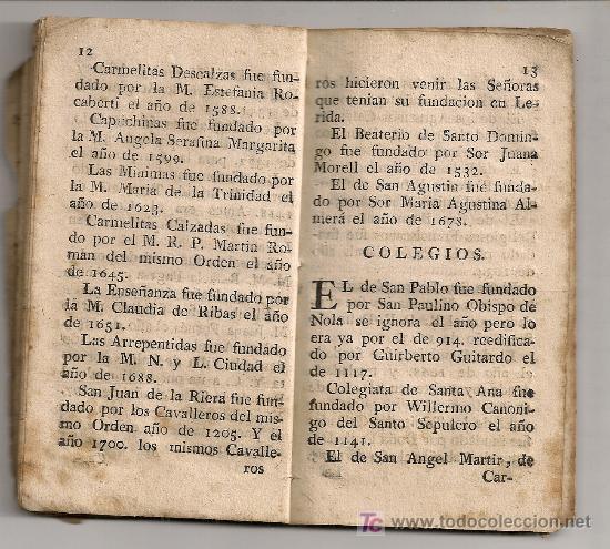 Libros antiguos: Diversion de ciudadanos...[ guia de Barcelona ] BCN : Teresa Nadal, 1789. 13,5x7,5cm. 74 p. - Foto 6 - 26894756