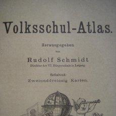 Libros antiguos: ATLAS UNIVERSAL ESCOLAR, 1895, SCHMIDT, ATLAS CON 32 MAPAS COLOREADOS. Lote 26969840