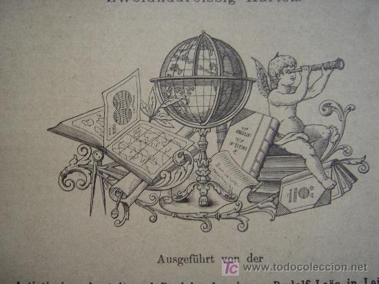 Libros antiguos: ATLAS UNIVERSAL ESCOLAR, 1895, SCHMIDT, ATLAS CON 32 MAPAS COLOREADOS - Foto 3 - 26969840