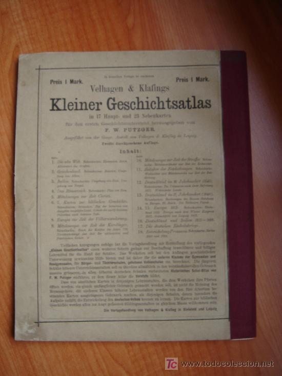 Libros antiguos: ATLAS UNIVERSAL ESCOLAR, 1895, SCHMIDT, ATLAS CON 32 MAPAS COLOREADOS - Foto 15 - 26969840