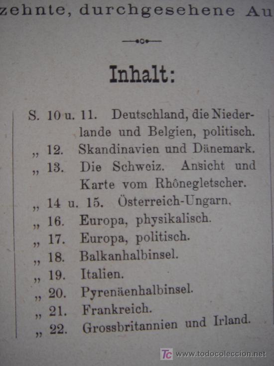 Libros antiguos: ATLAS UNIVERSAL ESCOLAR, 1895, SCHMIDT, ATLAS CON 32 MAPAS COLOREADOS - Foto 7 - 26969840