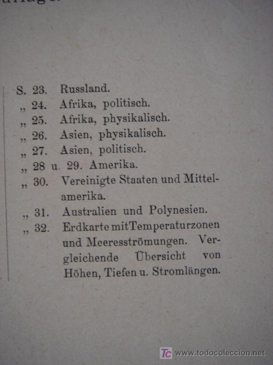 Libros antiguos: ATLAS UNIVERSAL ESCOLAR, 1895, SCHMIDT, ATLAS CON 32 MAPAS COLOREADOS - Foto 8 - 26969840