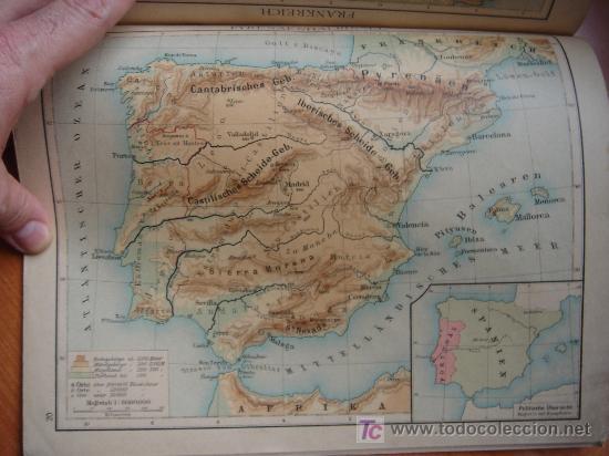 Libros antiguos: ATLAS UNIVERSAL ESCOLAR, 1895, SCHMIDT, ATLAS CON 32 MAPAS COLOREADOS - Foto 14 - 26969840