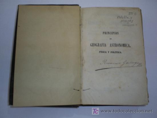 Libros antiguos: Principios de Geografía Astronómica, Física y Política FRANCISCO VERDEJO PAEZ 1864 RM41658 - Foto 3 - 26783957