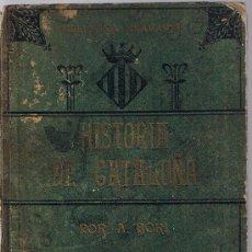 Libros antiguos: HISTORIA DE CATALUÑA POR A. BORI. BIBLIOTECA DIAMANTE.. Lote 21518398