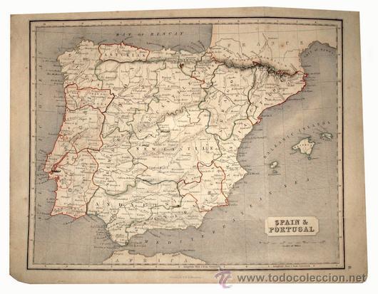 1850CA - MAPA DE ESPAÑA Y REPUBLICA DE ANDORRA - COLOR (Libros Antiguos, Raros y Curiosos - Geografía y Viajes)