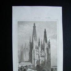 Livres anciens: 1842- CATEDRAL DE BURGOS. GRABADO ORIGINAL. Lote 27405285