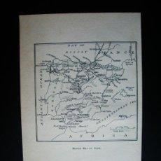 Libros antiguos: 1908-MAPA DE ESPAÑA. JHON LOMAS. Lote 26622769