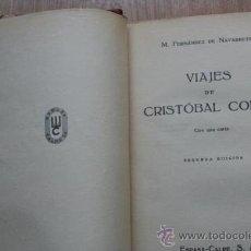 Libros antiguos: VIAJES DE CRISTÓBAL COLÓN. FERNÁNDEZ DE NAVARRETE (M.). Lote 25082062