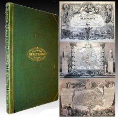 Libros antiguos: 1849 - ATLAS ILLUSTRE ¡ TEXAS INDEPENDIENTE ! MAPAS ILUMINADOS - ENORME TAMAÑO 55CM. Lote 25597559