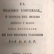 Libros antiguos: EL VIAGERO UNIVERSAL O NOTICIA DEL MUNDO ANTIGUO O NUEVO - TOMO XXXIX / CAUDERNO CXV. 1801. Lote 26082629