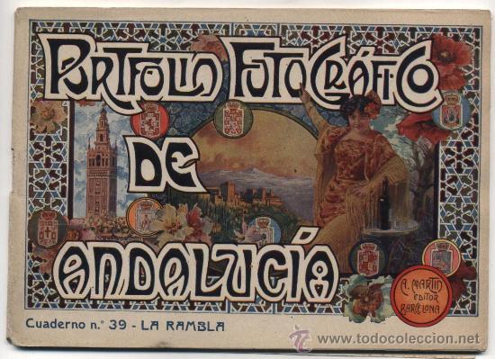 PORTFOLIO FOTOGRÁFICO DE ANDALUCIA Nº 39. LA RAMBLA. 40 PÁGINAS CON 16 FOTOGRAFÍAS Y PUEBLOS LIMÍ- (Libros Antiguos, Raros y Curiosos - Geografía y Viajes)