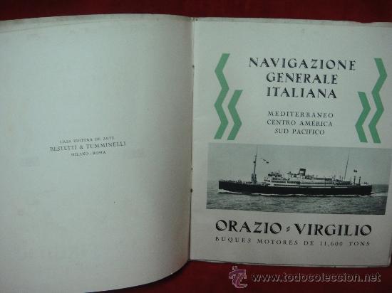 Libros antiguos: FOLLETO PUBLICITARIO DE LOS BUQUES ORAZIO Y VIRGILIO, PRIMERA Y SEGUNDA CLASE - Foto 2 - 27511004