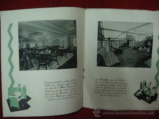 Libros antiguos: FOLLETO PUBLICITARIO DE LOS BUQUES ORAZIO Y VIRGILIO, PRIMERA Y SEGUNDA CLASE - Foto 3 - 27511004