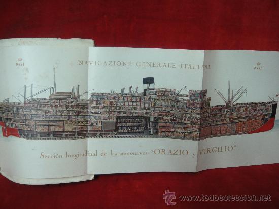 Libros antiguos: FOLLETO PUBLICITARIO DE LOS BUQUES ORAZIO Y VIRGILIO, PRIMERA Y SEGUNDA CLASE - Foto 4 - 27511004