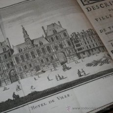 Libros antiguos: DESCRIPTION DE LA VILLE DE PARIS (TOMO II) DE GERMAN BRICE, 1713. CONTIENE 11 GRABADOS DESPLEGABLES. Lote 28048162