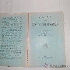 Libros antiguos: BOLETÍN DE LA REAL SOCIEDAD GEOGRÁFICA. TOMO LXXI. NÚMEROS 3 Y 4. MARZO Y ABRIL DE 1931. RM31202. Lote 29224893