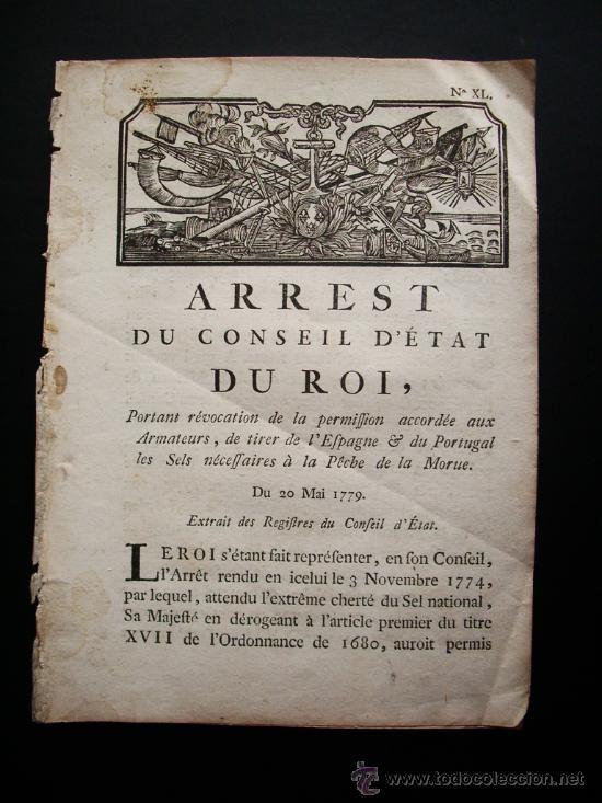 1779-ORDEN DE LA SAL. ESPAÑA, PORTUGAL Y FRANCIA.CARLOS IV. RARO Y CURIOSO DOCUMENTO (Libros Antiguos, Raros y Curiosos - Geografía y Viajes)