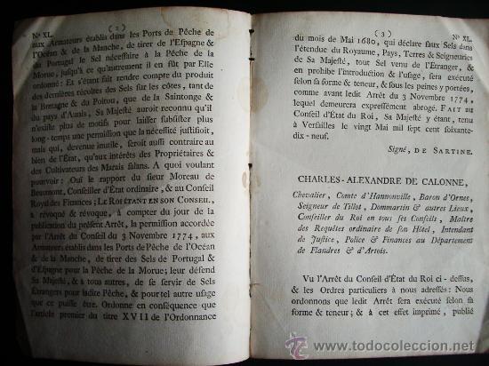 Libros antiguos: 1779-ORDEN DE LA SAL. ESPAÑA, PORTUGAL Y FRANCIA.CARLOS IV. RARO Y CURIOSO DOCUMENTO - Foto 2 - 29389838